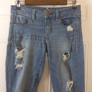 American Eagle distressed stretch Jean jeggings